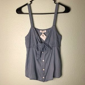 Tops - NWT Chambray Boutique Tank Top